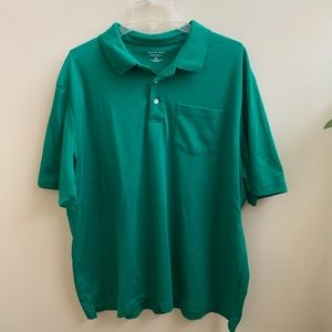 Lands End green traditional polo shirt XXL